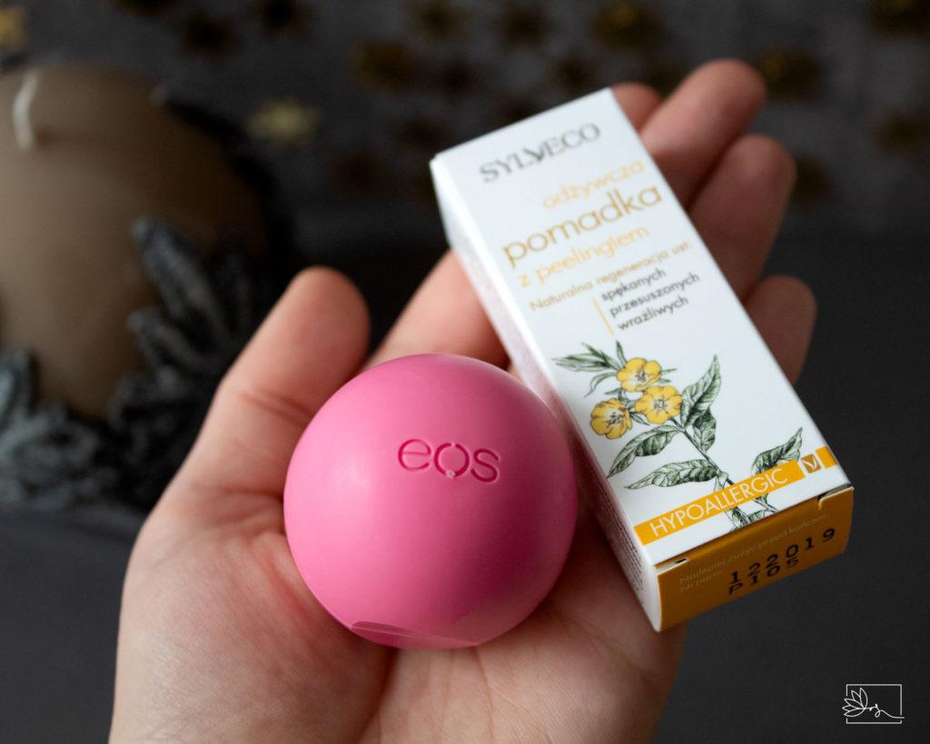 EOS Strawberry Sorbet, SYLVECO Odżywcza pomadka z peelingiem