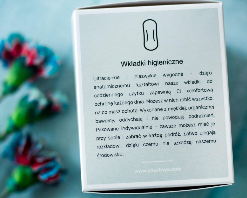 Your Kaya wkładki higieniczne bawełna organiczna